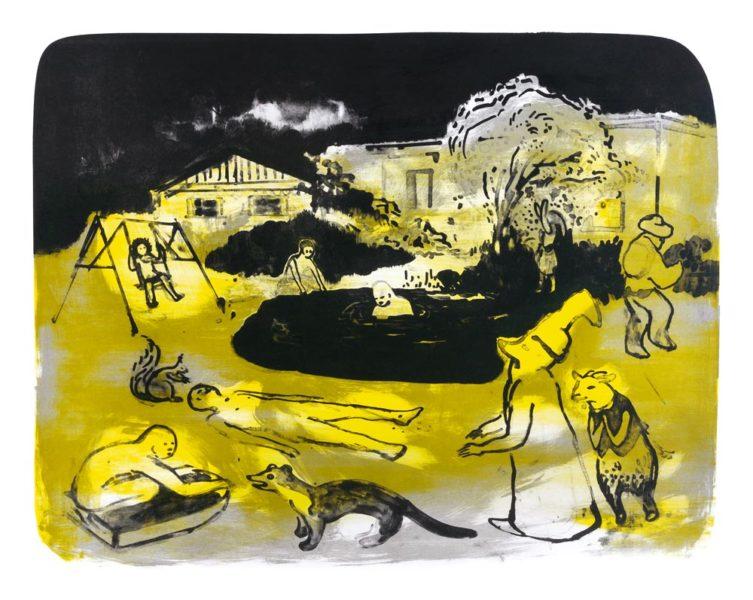 Franziska Guettler | Sommersturm 37 × 47,5 cm, Farblithographie, 2014